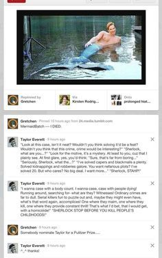 Oh. My. Word. MERMAIDBATCH!!!! Benedict Cumberbatch + mermaid tail + song from Little Mermaid. READ THIS!!! It's hilarious!