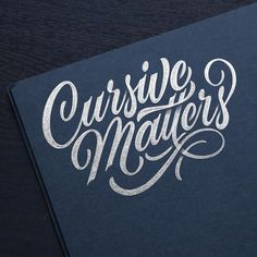 cursive matters...