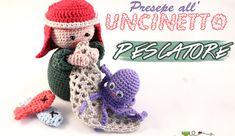 Schema presepe amigurumi: il pescatore - La Torre di Cotone Amigurumi Patterns, Crochet Patterns, Crochet Dolls, Crochet Hats, Crochet Winter, Crochet Projects, Free Crochet, Nativity, Free Pattern