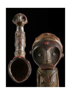 Cuillere en terre cuite - Fang - Gabon