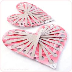 A heart from a tissue box - would be a cute decoration for a valentine