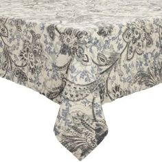 "Handmade Sur La Table Paisley Linen Tablecloth 70""x96"" Elegantly simple, this super soft vintage washed linen is stylish enough for entertaining and casual enough for everyday. Handmade with Belgian flax."