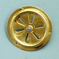 A small brass circular vent possibly from a narrow boat. Fully refurbished, cleaned, polished and read to fit.
