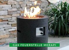 Feuerstelle im Garten: Mit dieser dekorativen Gas-Feuerstelle setzten Sie ein Highlight auf Ihrer Terrasse oder in Ihrem Garten. Merapi, Outdoor Decor, Home Decor, Terrace, Weather Vanes, Fireplace Heater, Seating Areas, Interior Design, Home Interior Design