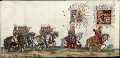 Albrecht Altdorfer (c. 1480 -1538), Hans Burgkmair (1473-1531), Albrecht Dürer (1471-1528) & others — Triumphal Procession, 1517 (1440x701)