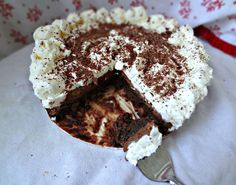 The Cooking Actress: French Silk Brownie Pie