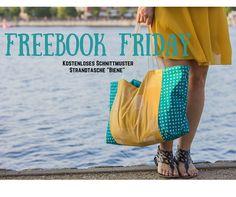 Freebook, Strandtasche mit Außenfach nähen, für Anfänger geeignet, inklusive kostenlosem Schnittmuster