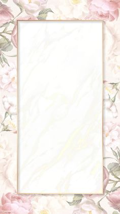 Hand drawn floral rectangle gold frame card mockup vector | premium image by rawpixel.com Flower Background Wallpaper, Framed Wallpaper, Flower Backgrounds, Wallpaper Backgrounds, Iphone Wallpaper, Instagram Frame, Floral Border, Photoshop Design, Flower Frame