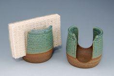 Ceramic Sponge Holder by SawyerCeramics on Etsy