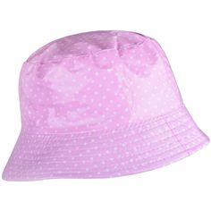 58a0ffc7473 WDSKY Outdoor Rains Bucket Hat Dots Pink Hats For Women Waterproof... (42  RON) ❤ liked on Polyvore featuring accessories