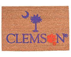 Clemson Door Mat- husband better be a tiger fan! Clemson Football, Clemson Tigers, Football Season, Tiger Love, Tiger Crafts, Palmetto State, Welcome Mats, School Spirit, Orange And Purple
