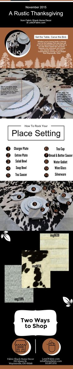 Learn how to set a rustic place setting for Thanksgiving dinner. Impress your holiday guests with these simple tips and tricks.