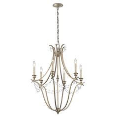 Kichler Lighting Abellona Sterling Gold Vintage Candle C Crystal Chandelier Lighting, Candle Chandelier, Chandeliers, Vintage Candles, Traditional Furniture, Cool Lighting, Medium, Ceiling Lights, Design