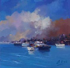 "Saatchi Art Artist Andres Vivo; Painting, ""Nº4234 Kind clouds"" #art"