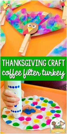 Easy Thanksgiving Crafts for Kids: Coffee Filter Turkey - Pre-K Pages