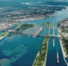 Soo Locks-Sault-Ste Marie, Michigan - Sault Ste. Marie International Bridge