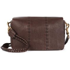 Womens Cross-body Bags Lanvin Espresso Leather Cross-body Bag ($1,885) ❤ liked on Polyvore featuring bags, handbags, shoulder bags, brown leather purse, leather cross body purse, brown leather shoulder bag, brown crossbody and leather crossbody