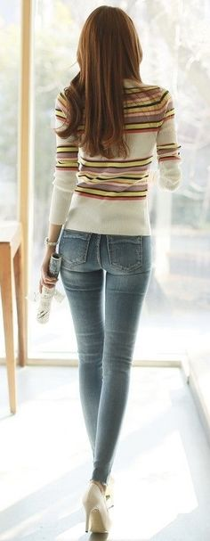 the perfect denim / sweater style