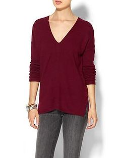 Piperlime Collection Dolman Sleeve V-neck Sweater | Piperlime | Heather Wine - small