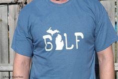 Golf Michigan Shirt Michigan Shirt Mitten by RoyalMajesTees