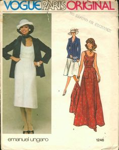 Vogue 1246 - Vintage Sewing Patterns