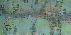 decoding here // Katharyna Ulriksen 2009 mixed media on canvas#painting #art #maps #cities #senseofplace #nonplace #travel #transit #temporary #locations