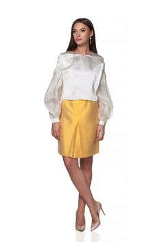 Maria Alina Margulescu – Borangic blouse with sleeves Contemporary Fashion, Traditional Design, Blouse, Skirts, Sleeves, Atelier, Blouses, Skirt