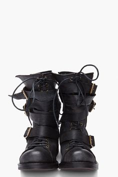 JEFFREY CAMPBELL // Black Fall Tanker Boots. I would just call them SEXY-ASS BOOTS.