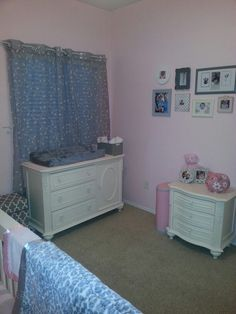Pink and gray girl nursery
