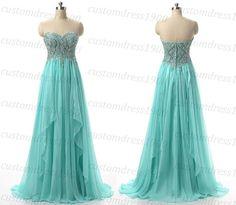 Long Blue Prom DressSweetheart Long Bridesmaid by customdress1900