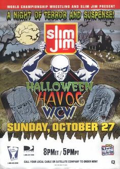 Halloween Havoc 1996 Poster - I reviewed this on my blog - http://sirjorgewwe.blogspot.com/2017/03/wcw-halloween-havoc-1996-results-and.html