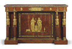 An Empire Ormolu-mounted mahogany side cabinet ca This cabinet has a rich mixture of Egyptian and Classical iconography. Seen @ NYC. Empire Furniture, Gothic Furniture, French Furniture, Classic Furniture, Furniture Sale, Antique Furniture, Dream Furniture, Furniture Websites, Furniture Ideas