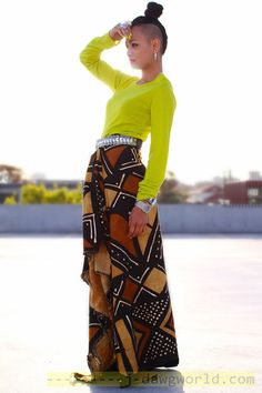 Stunning Lime and African Print. African Inspired Fashion, African Print Fashion, Africa Fashion, Fashion Prints, African Prints, Ankara Fashion, Ethnic Fashion, African Attire, African Wear