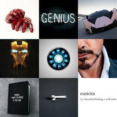 Marvel Character Moodboards → Tony Stark || Iron Man