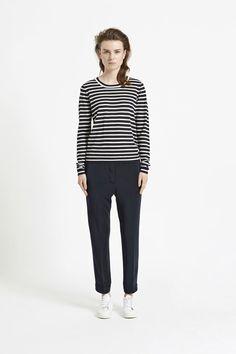 Sanella o-neck stripe 3111