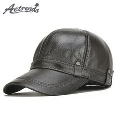 AETRENDS] 2017 New Winter Men's 100% Leather Baseball Cap Men Warm Hats with Ears Flap Z-5304 Who like it ? Visit our store