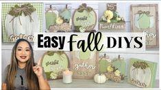 *NEW* EASY FALL DIYS / DOLLAR TREE FARMHOUSE DIY - YouTube Hello Everyone, Dollar Tree, Fall Decor, Farmhouse Decor, The Creator, Diys, Crafts, Youtube, Autumn