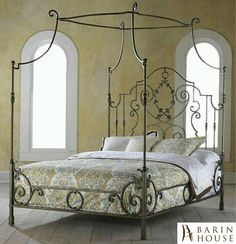 Highland House French Country Couronne King Metal Bed available at Hickory Park Furniture Galleries Wrought Iron Beds, Highland Homes, Canopy Bedroom, Furniture, Beautiful Bedrooms, Bed, Home, Iron Canopy Bed, Canopy Bed Curtains