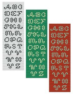 For sale is Bead Loom Alphabets Font 4 All Letters Bracelet Pattern Chart in PDF format. This alphabet includes 2 designs shown on the listing