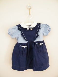Vintage 1950s Blue Baby Dress by ThriftyVintageKitten on Etsy, $12.00