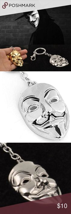 Guy Fawkes Called... -he wants his keyring back. If u love Mr. Robot's FSociety, the Anonymous movement & V for Vendetta you've come 2 the right closet😎 We do not forgive. We do not forget. Expect us ~ Anonymous  Ideas are bullet-proof ~ Guy Fawkes; V For Vendetta  Alexa, play the Daily 5/9 ~ Mr. Robot Good sized, quality weighted key ring. All 4 colors available. See other listings for more color options of Brushed Nickle, White & Gold.  *This listing is for the Silver keyring only *All…