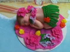 Hawaiian BabyEdible Cake Toppers Made of Vanilla di anafeke