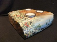 painted candle holder,By Janet Billig Art. com