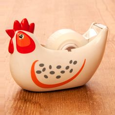 Chicken Tape Dispenser  http://www.seejanework.com/productcart/pc/Chicken-Tape-Dispenser-174p4591.htm