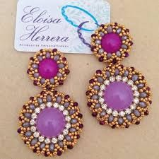 Imagen relacionada Loom Patterns, Beading Patterns, Crimped Hair, Bead Earrings, Beaded Embroidery, Projects To Try, Spices, Beaded Bracelets, Brooch