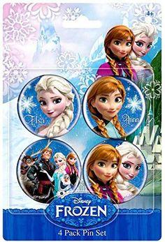Disney Frozen 1.5 Inch Button Anna & Elsa by Animewild