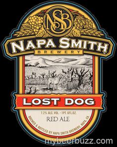 mybeerbuzz.com - Bringing Good Beers & Good People Together...: Napa Smith Brewery - Lost Dog, Ginger Wheat, Bonfi...
