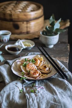 Pumpkin & ginger dumplings - an easy recipe that uses store-bought wonton wrappers