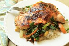 Seared Salmon with Thai Vegetables