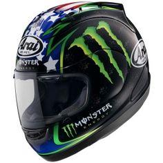 Classiv John Hopkins helmet design from MotoGP and World Superbikes - http://replicaracehelmets.com/product/arai-rx-7-gp-john-hopkins-helmet/